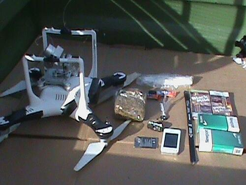 Drone carrying contraband-1