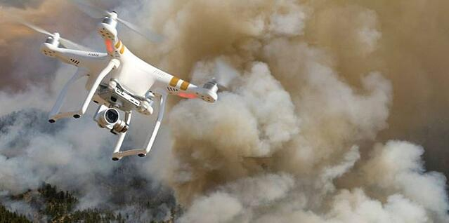 Drone used in disaster relief