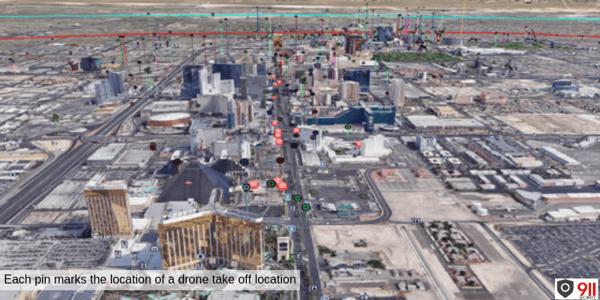 Las Vegas-The Strip: Drone Takeoff Locations