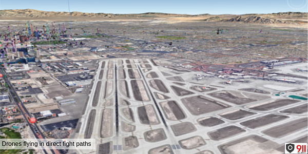 Las Vegas - Drones near airport flight paths