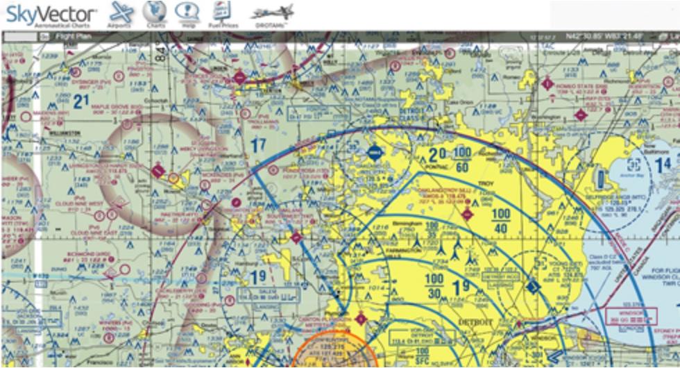 SkyVector Drone Map