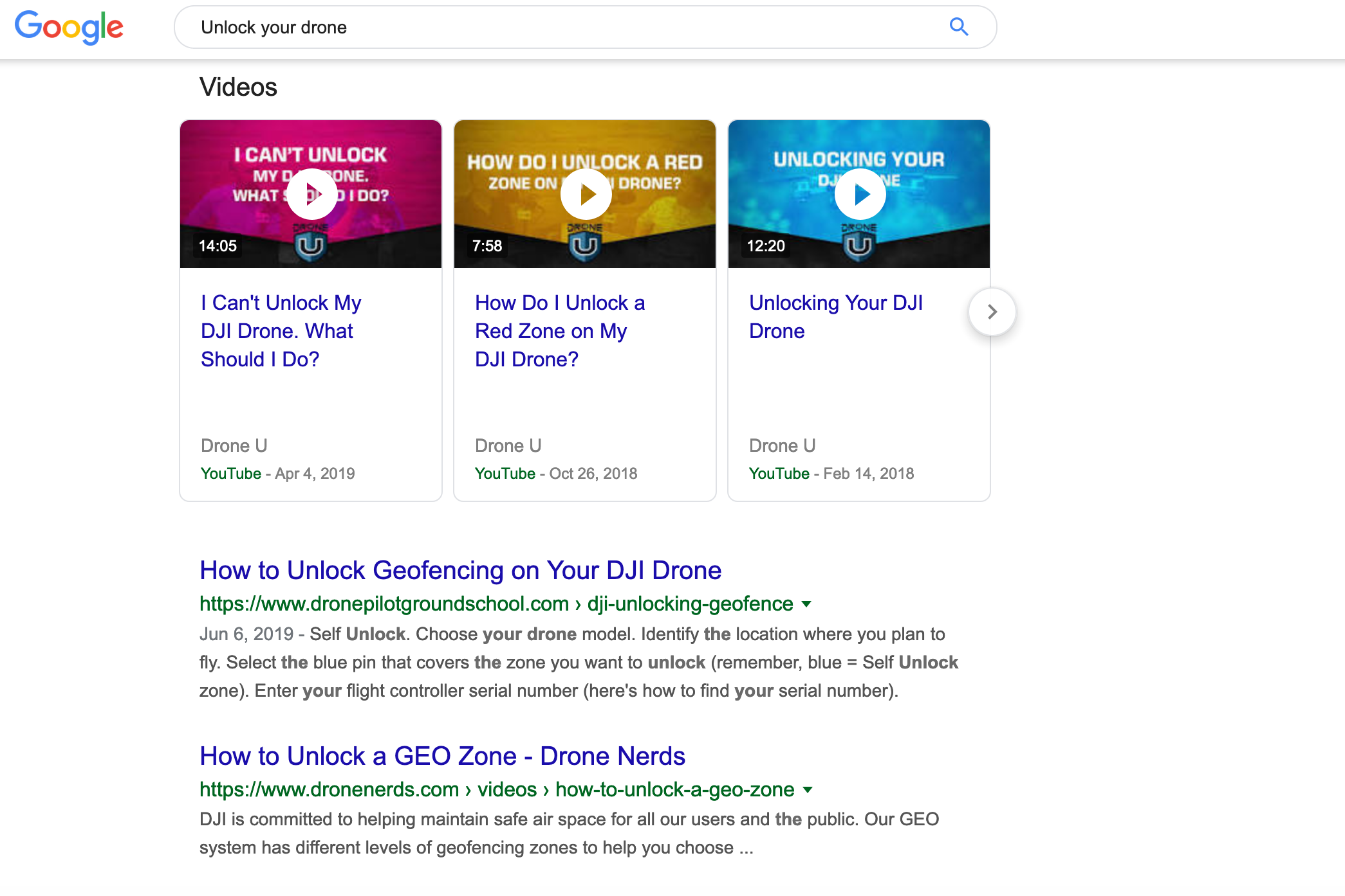 Unlock your drone search results