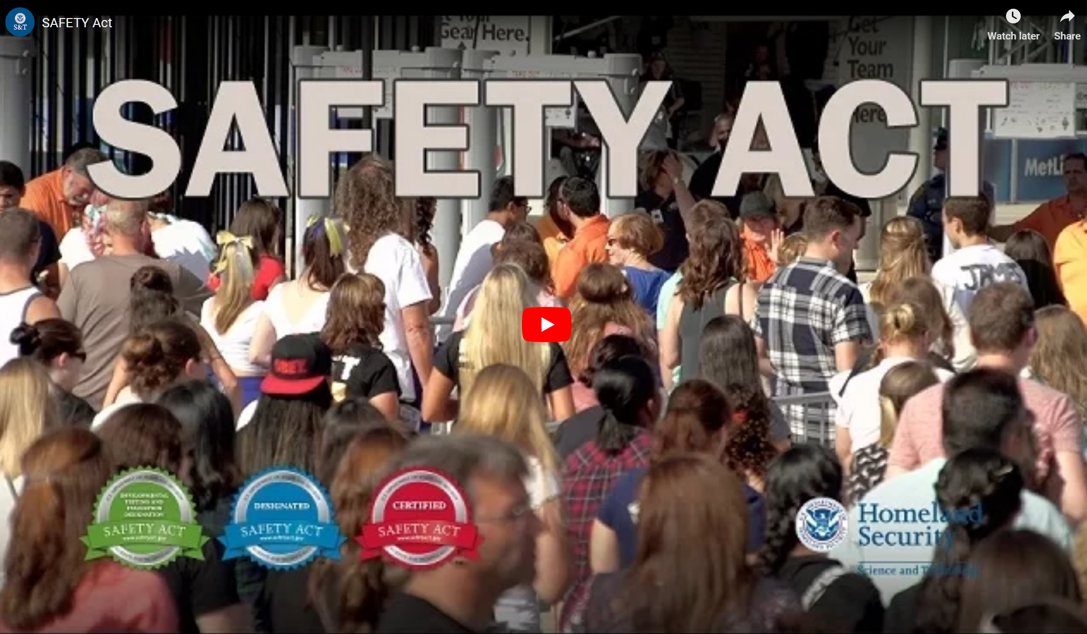 safety act video