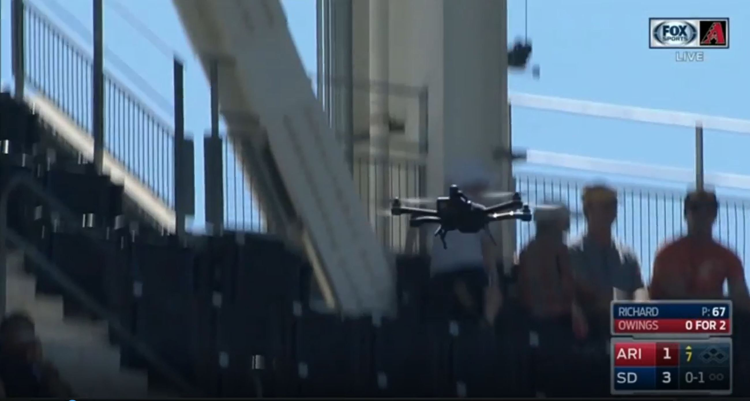 Drone crashes into spectators during Padres MLB game at Petco Park
