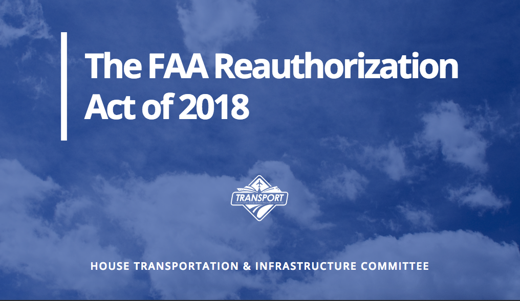 FAA Reauthorization Act 2018