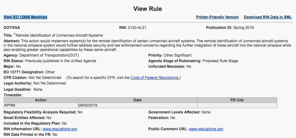 FAA Remote ID rule delayed September