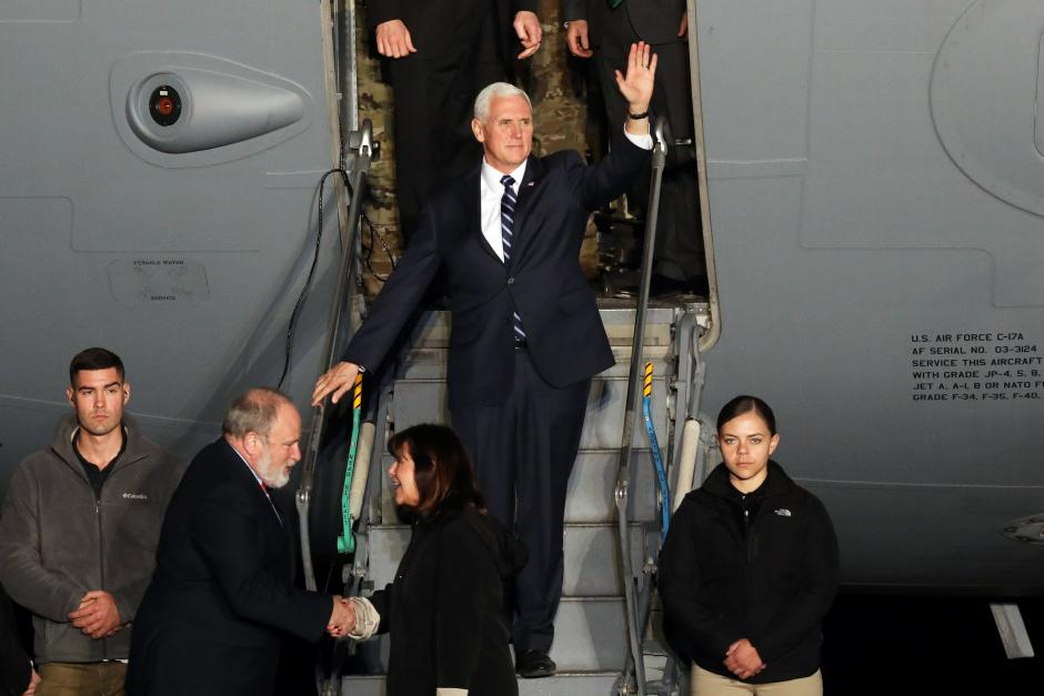 Mike Pence lands in Israel
