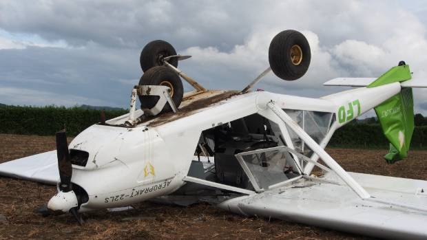 New Zealand airplane drone crash