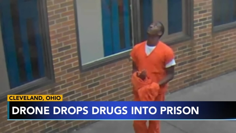 Ohio jail drone-drug-drop-video-