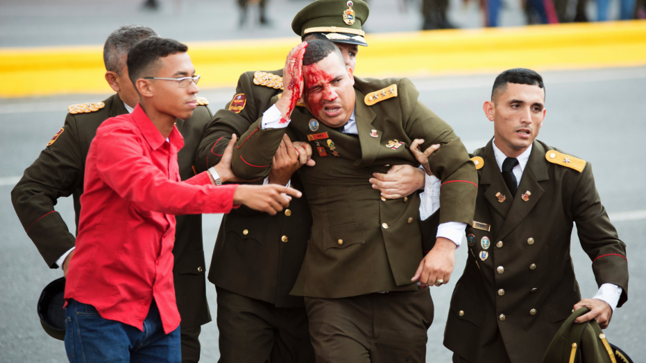 Venezuela Drone Attack - Soldier Injury