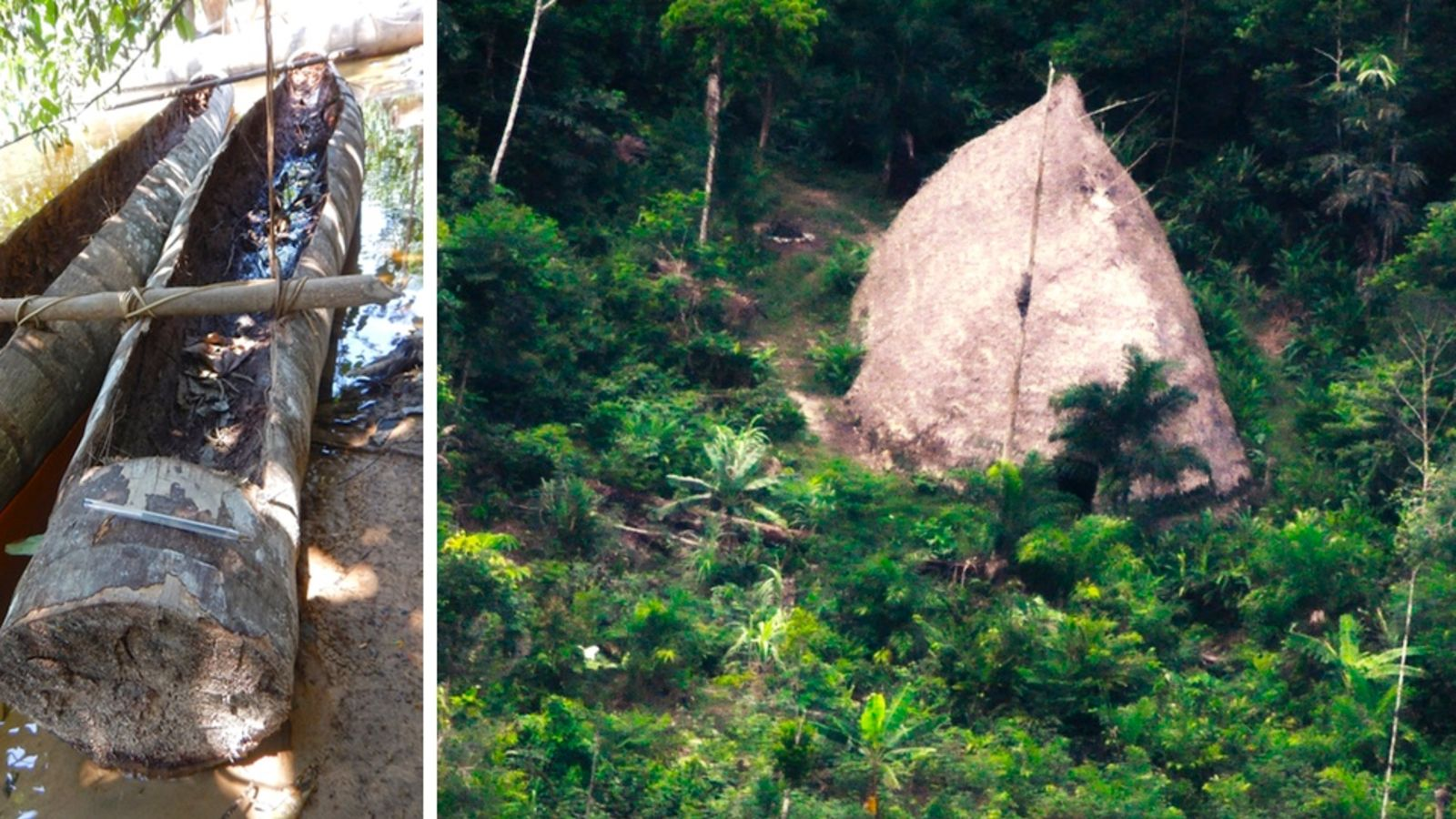drone films Amazon tribe