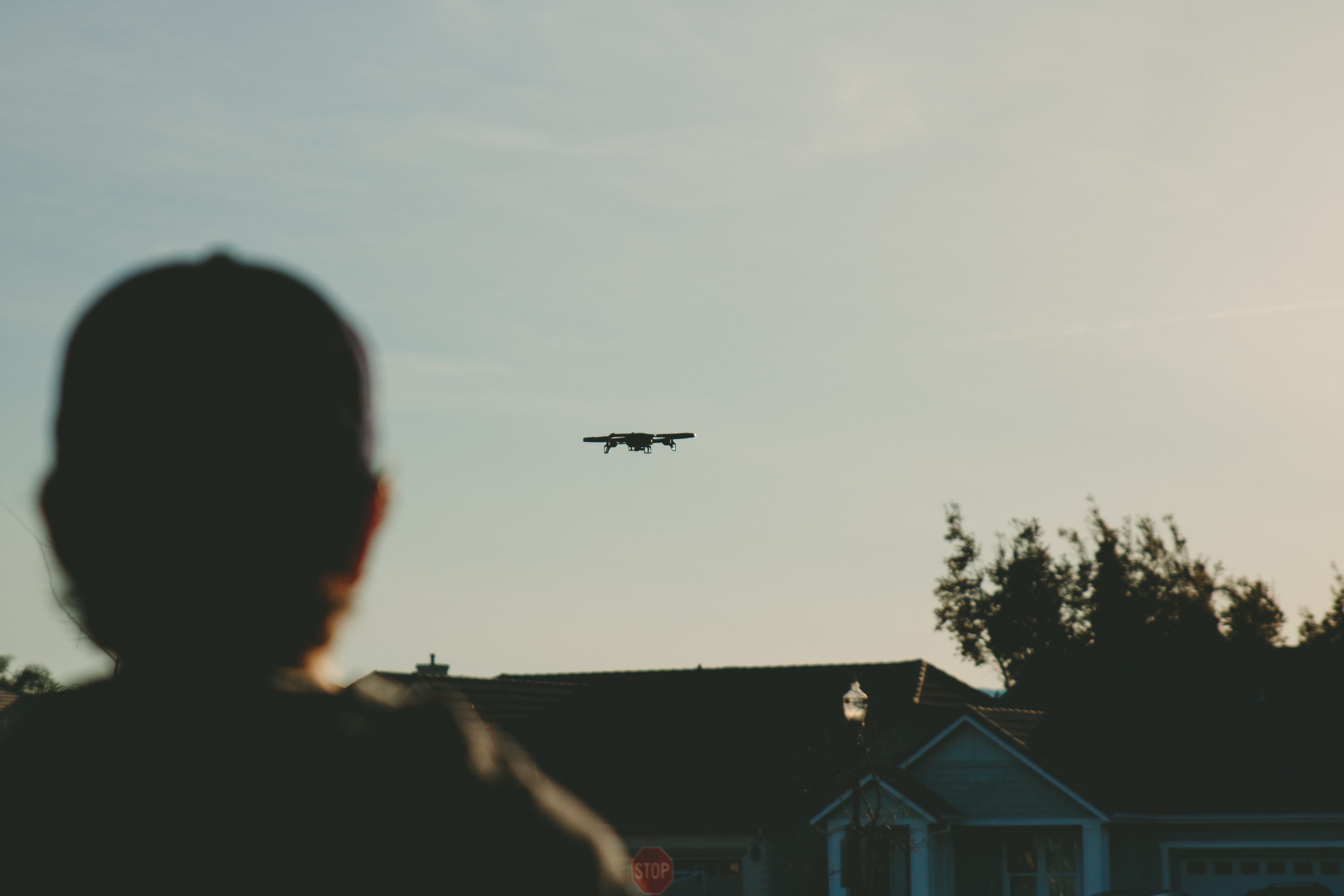 drone over home