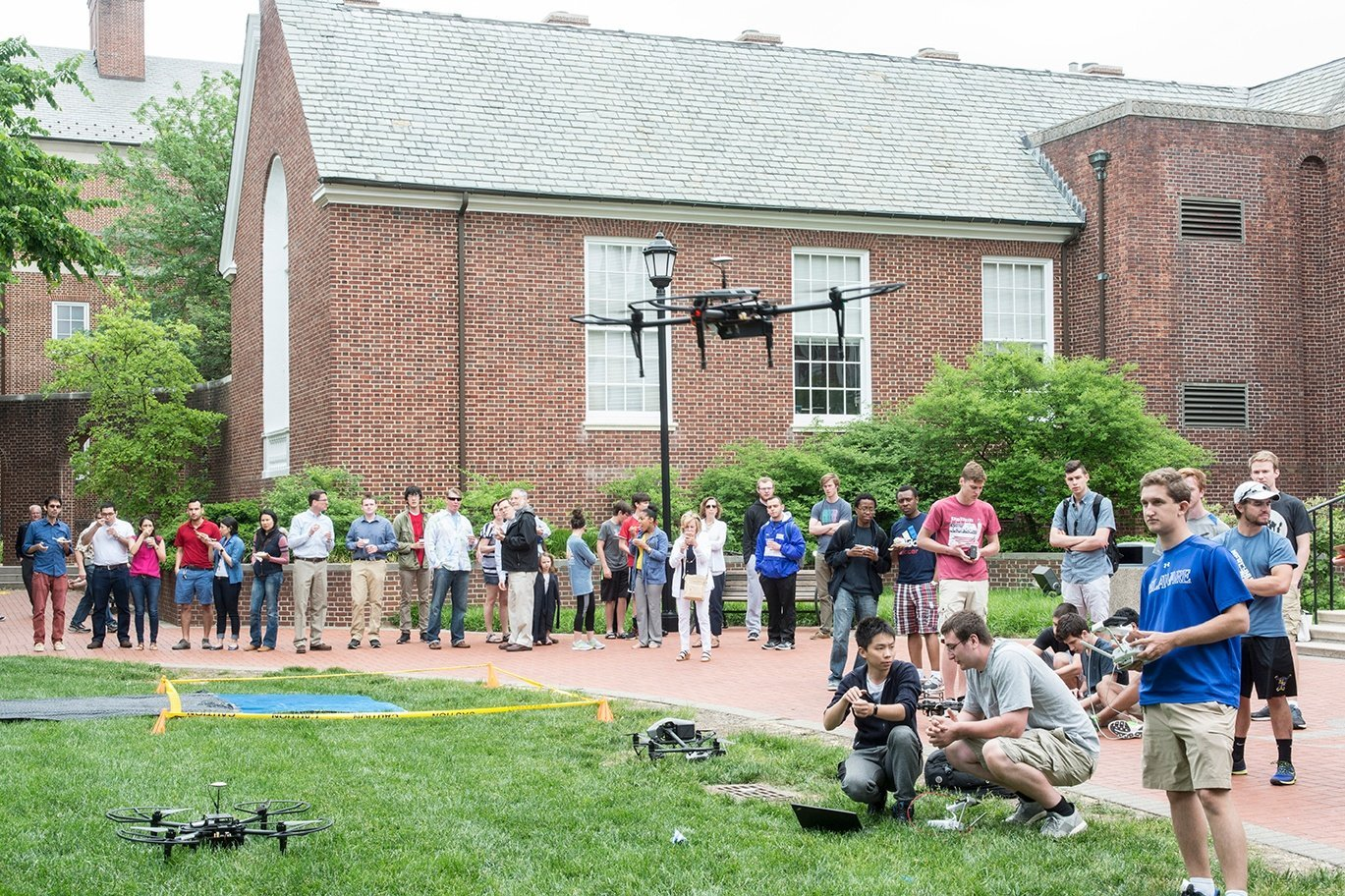 drones on university campus.jpg