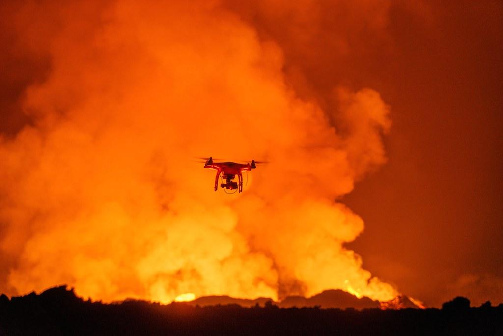 drones wildfires