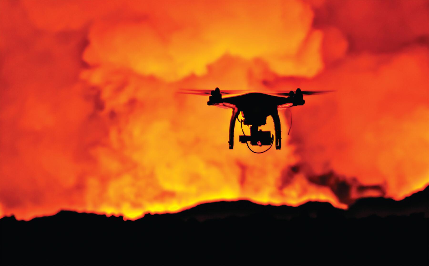 phantom-drone fire