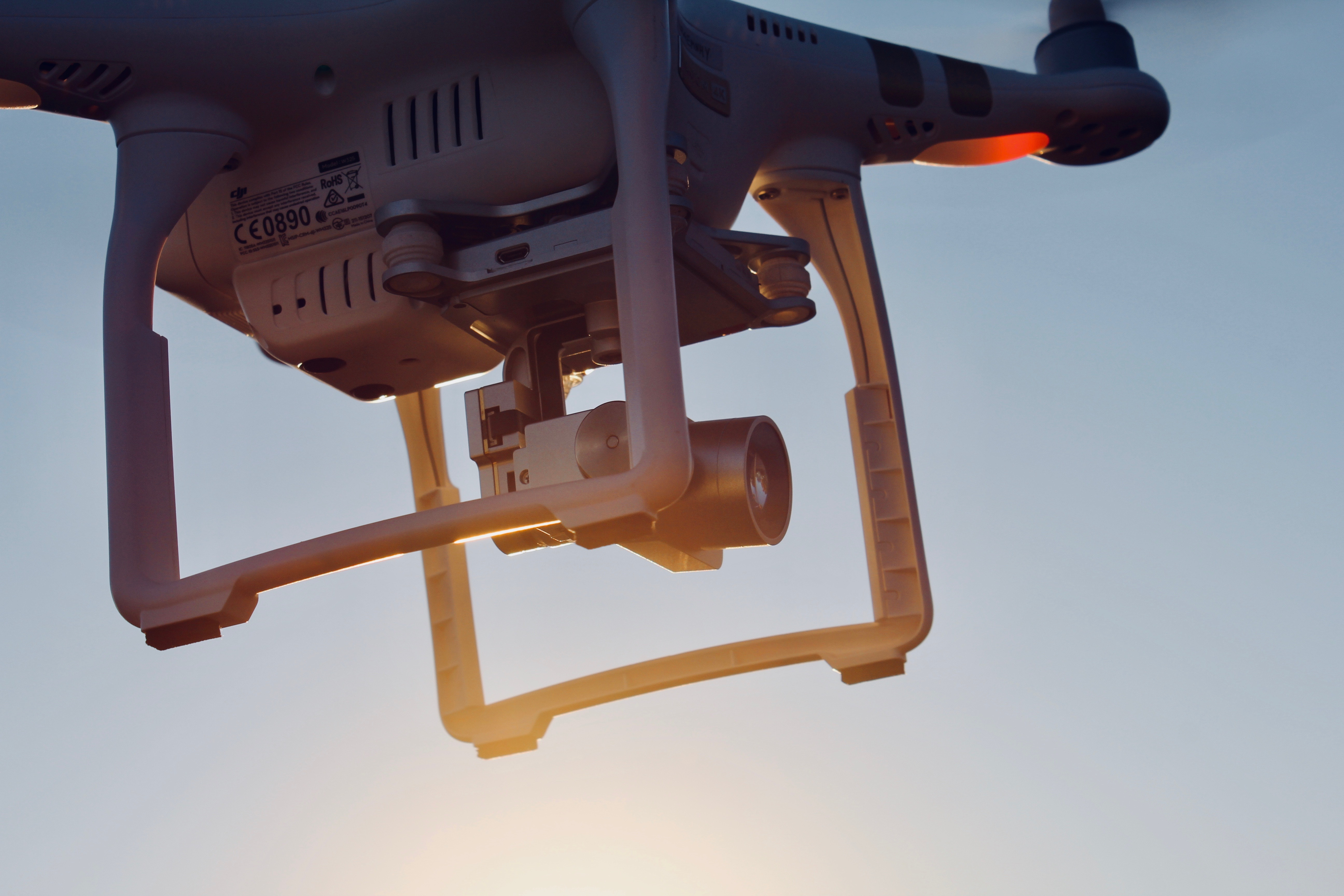 upclose drone in sky