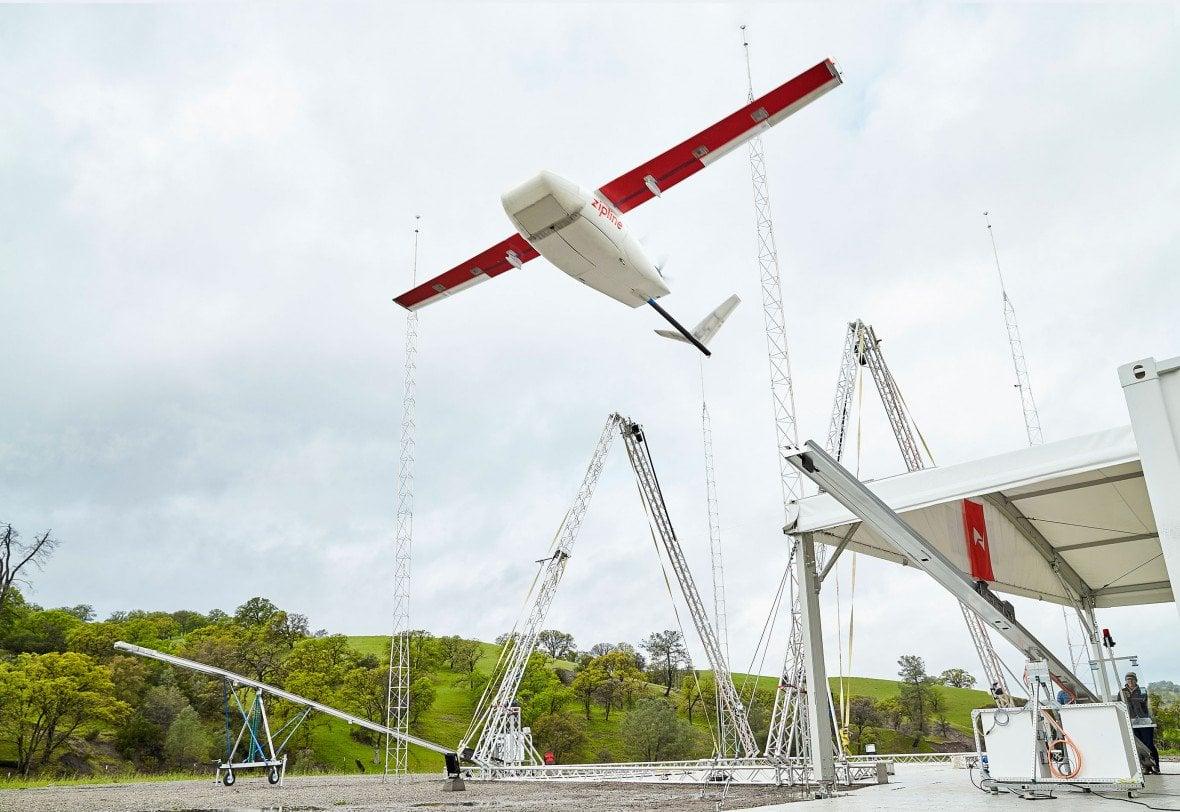 zipline drone launch